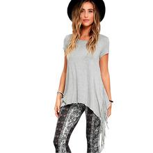Buy T Shirt Punk Rock Pok Tassel Fashion T-shirts Women Tops Tshirt Camisetas Feminina Ropa Mujer Women's Clothing Clothes H30 for $13.69 in AliExpress store