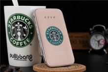 Universal mobile power bank Starbucks portable battery charger 8800mAh ultra-thin polymer Rehinestone - Great Wall technology co., LTD store