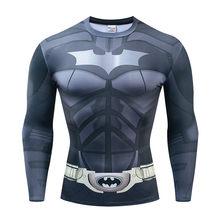 Aquaman сжатия рубашка человек 3D печатных футболки для мужчин 2019 новые комиксы косплэй костюм топы с длинными рукавами для фитнес ткань(China)