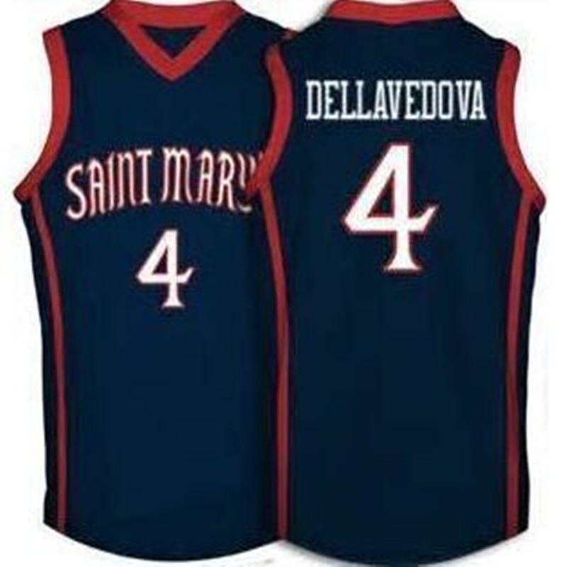 #4 Matthew Dellavedova College Saint Marys University Basketball Jersey Embroidery Stitched Custom any Number and name Jerseys(China (Mainland))