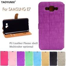 Buy Wallet PU Leather Case Samsung Galaxy E7 E7009 SM-E700F E700 E700F E7000 Flip Pouch Bag Credit Card Slots+Stand Holder for $2.68 in AliExpress store