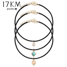 Buy 17KM 3 Colors Europe Blue Stone Chokers Necklaces Velvet choker Pendants Necklaces Sets Necklace Jewelry Vintage Maxi for $1.29 in AliExpress store
