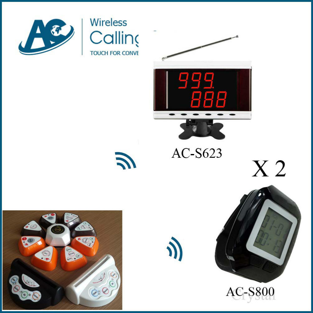2 watch 11 table call 1 display electronic bell system Restaurant & Hotel Supplies restaurant service bell table call bell(China (Mainland))