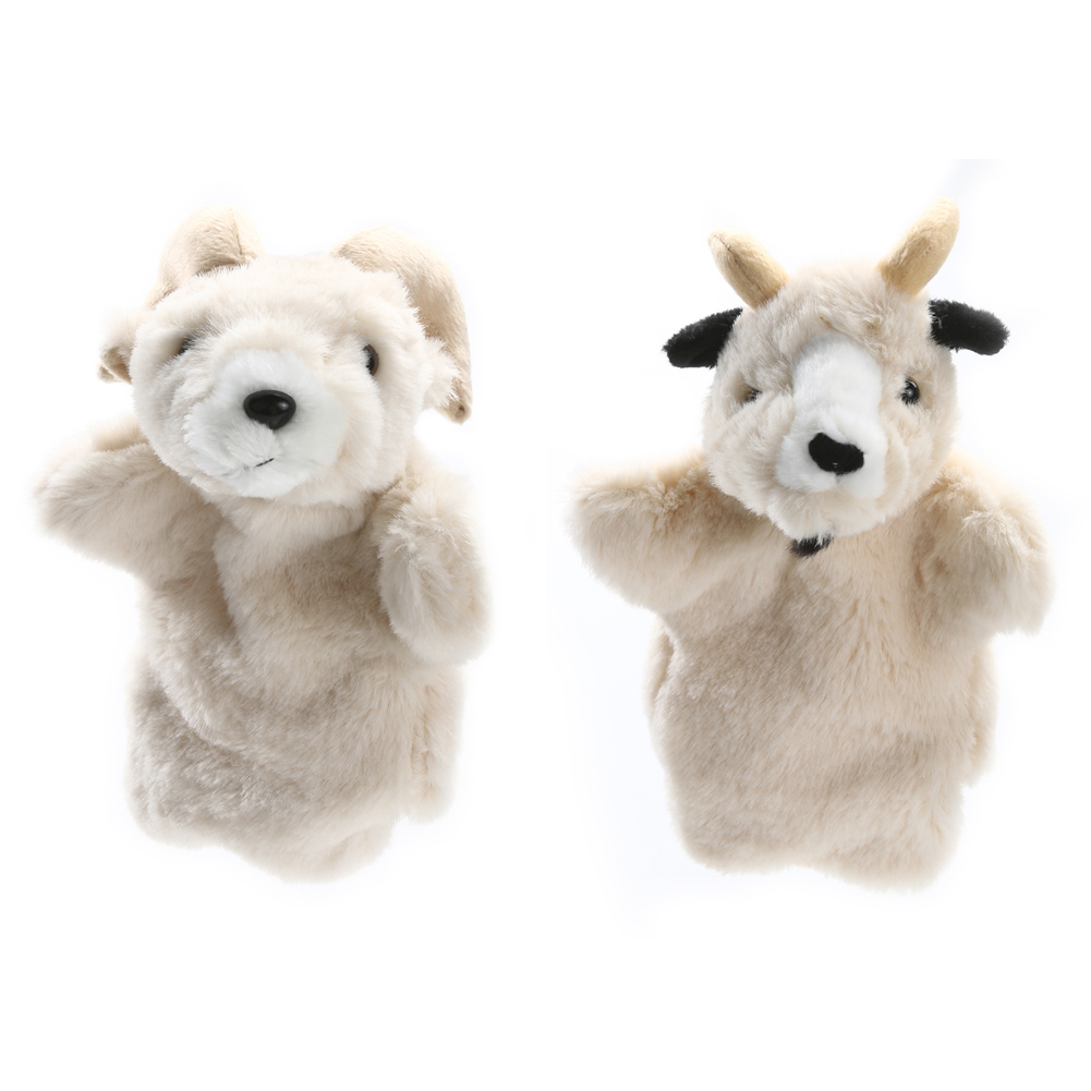 Lovely Sheep Hand Puppet Baby Kids Developmental Soft Doll Plush Toy Goat Hand Puppet Toys Parent-child Interactive Puppet(China (Mainland))