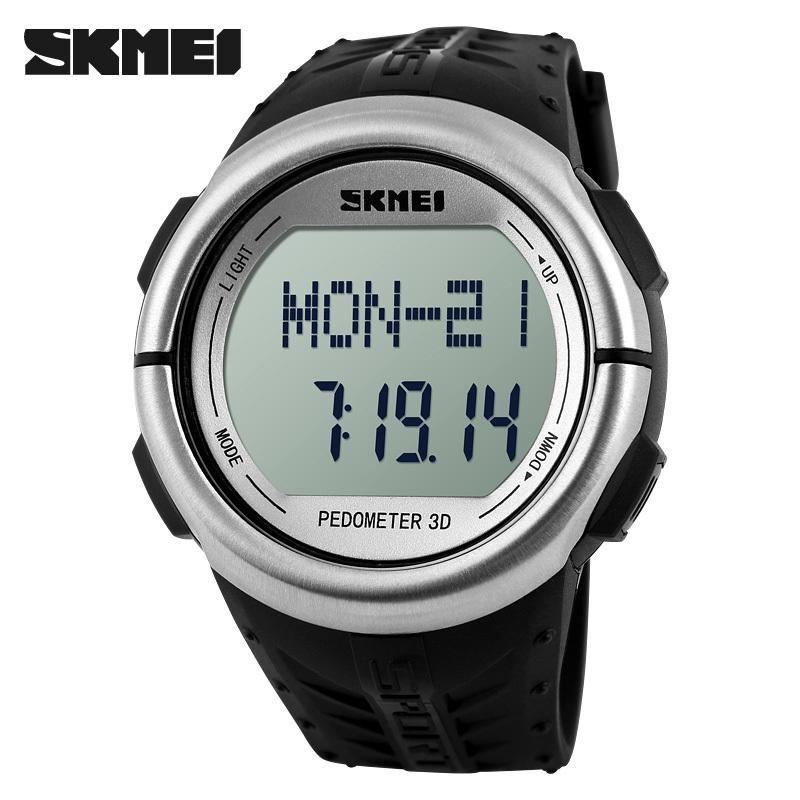 SKMEI 1058 Heart Rate Monitor pedometer Sport watches for men 50m waterproof digital watch men women sports calorie counter w543(China (Mainland))