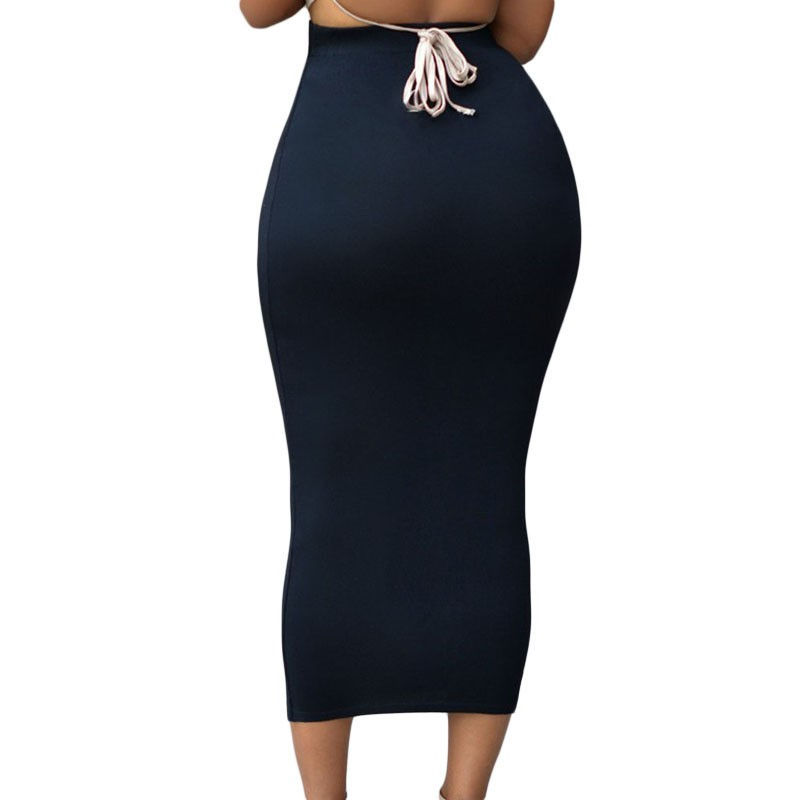 Solid-Black-High-waisted-Bodycon-Maxi-Skirt-LC71188-2-2