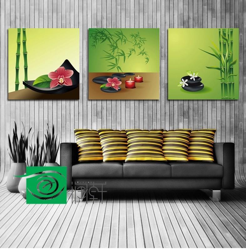 3 painel wall art feng shui imagem decora o de parede for Decoracion de living feng shui