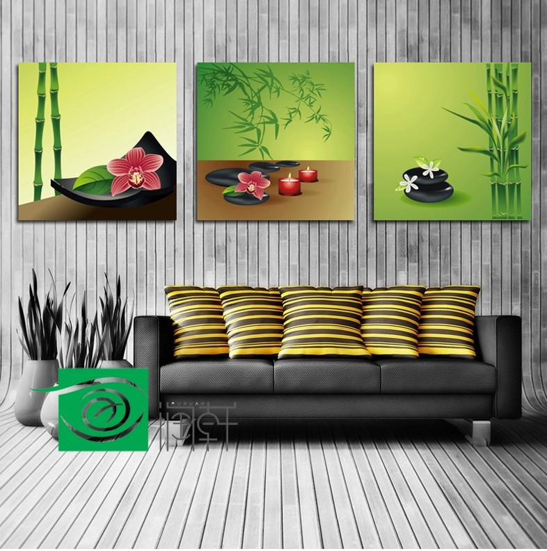 3 painel wall art feng shui imagem decora o de parede for Cuadros para dormitorios segun feng shui