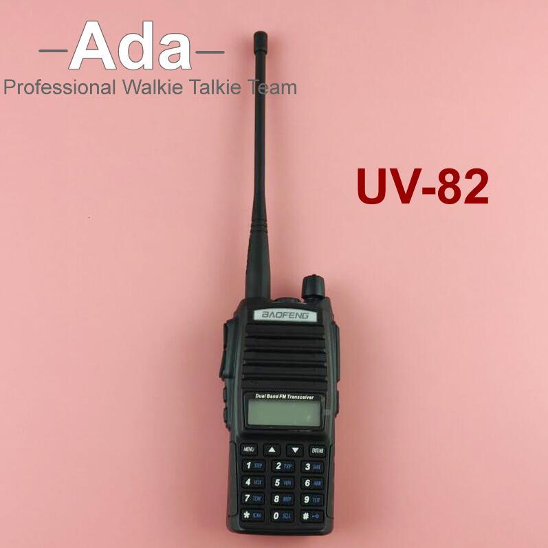 BaoFeng UV-82 Portable Ham Radio 10KM Walkie Talkie Dual PTT Handle Amateur Radio Baofeng UV-5r+Earphone(China (Mainland))