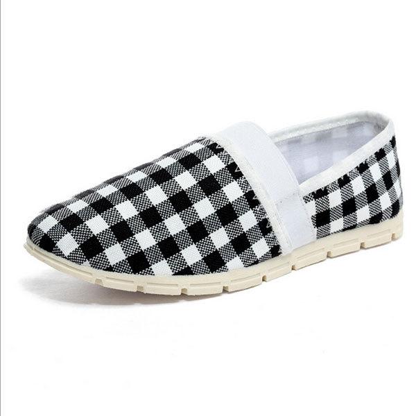 Fashion Summer Canvas Shoes Casual Wear font b Tartan b font Design Comfort Breathe Freely Handsome