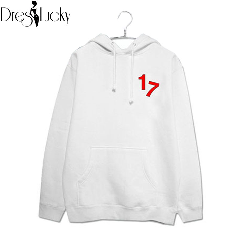 SEVENTEEN17 harajuku 2016 autunmn fashion hoodies casual fleece hooded sweatshirt couple clothing plus size print pullover sale(China (Mainland))