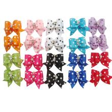 20 Pcs Lovely Handmade Pet Dog Cat Hair Accessories Flower Little Bows Pet Grooming Products For Dogs Cat Puppy Charms Gifts