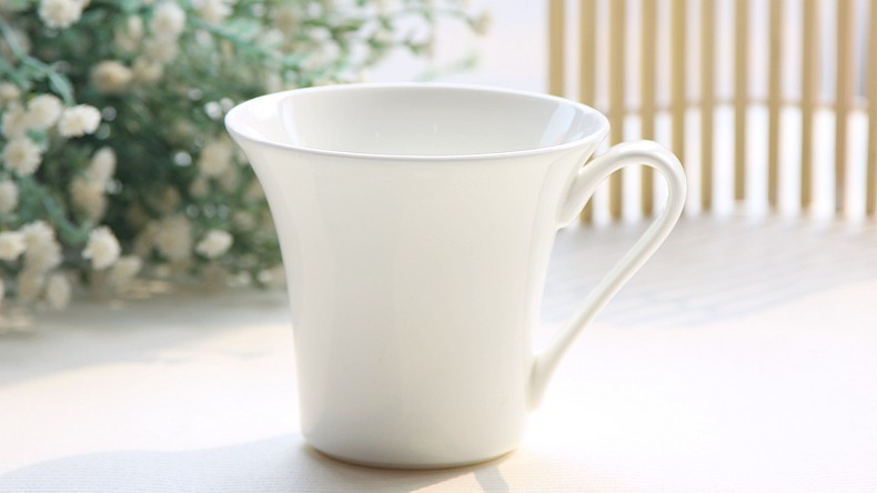 320ML. Special Sale! Bone china english china tea cups, pure white cup coffee, enamel cup, custom mug, best selling products(China (Mainland))