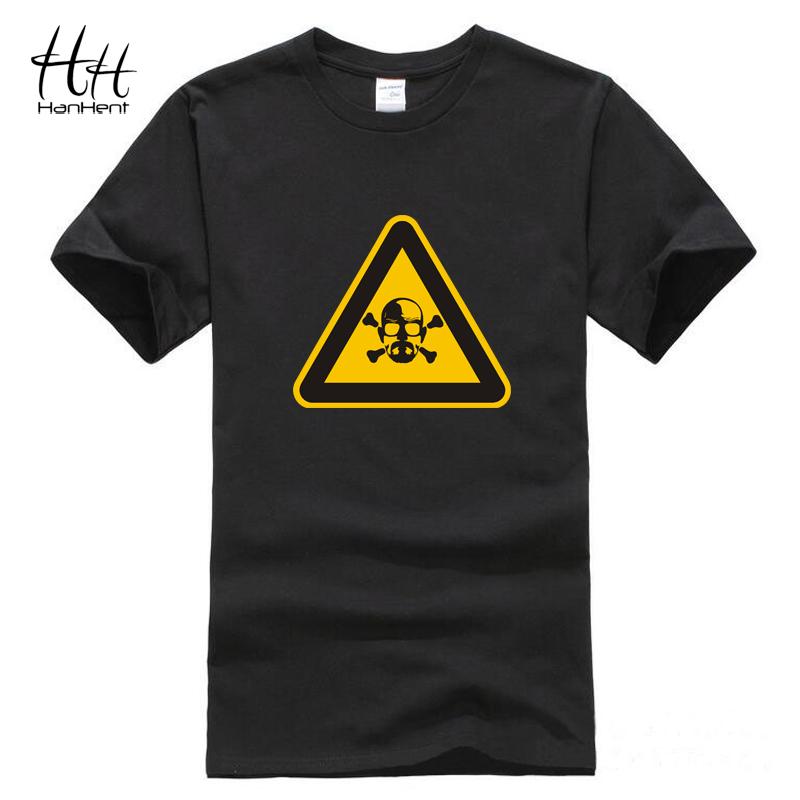 HanHent Heisenberg Dangerous Black T Shirt Men Novelty Short sleeve Cotton Men TShirt Loose Funny Fitness Tee shirt Breaking Bad(China (Mainland))