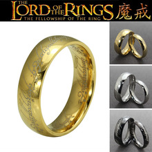 Free shipping (5 pieces/lot) cheap wholesale the18k gold plated titanium men women couple titanium hobbit lord of rings(China (Mainland))