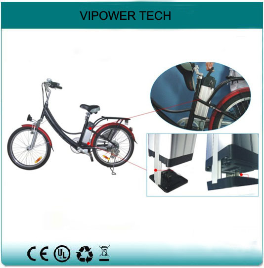 24V 12Ah Silver Fish E Bike Rechargeable Batteries LiFePO4 Electric Bicycle Bateria Bottom Discharge Akku Packs Charger - Shenzhen Vipower Technology Co., Ltd. store