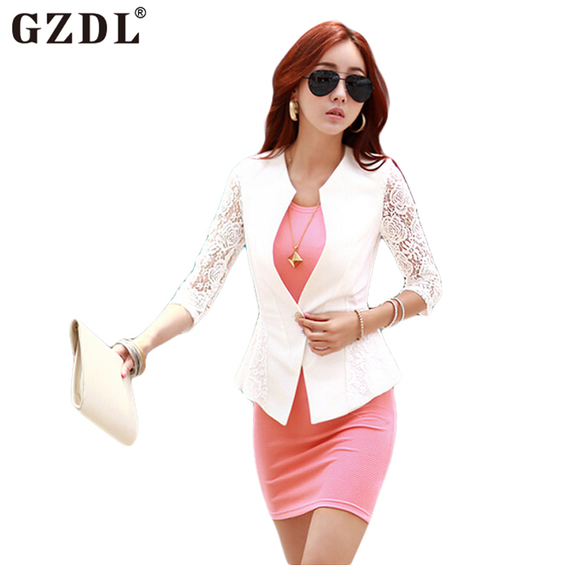 2015 New Fashion Ladies Lace Slim Fitted Crochet Single Button Women Jacket Casaco Short Suit Coat Tops Chaquetas Mujer CL1795  -  QIQI YUAN's store store