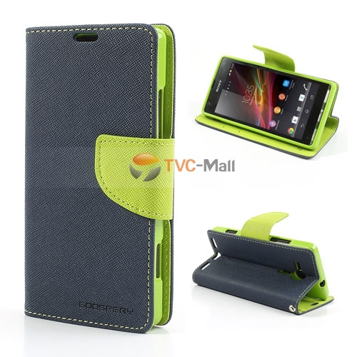 Гаджет  New Stylish Leather Mercury Fancy Diary Stand Leather Case for Sony Xperia SP C5303 C5302 C5306 M35h Accept Wholesale None Телефоны и Телекоммуникации