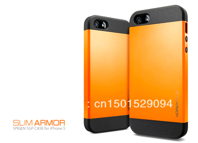 Free shipping;Sgp slim armor phone case for  iphone5;