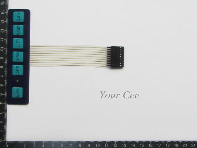 2 pcs 1x6 6 Key Matrix Membrane Switch Keypad Keyboard Control Panel Super Slim with LED(China (Mainland))