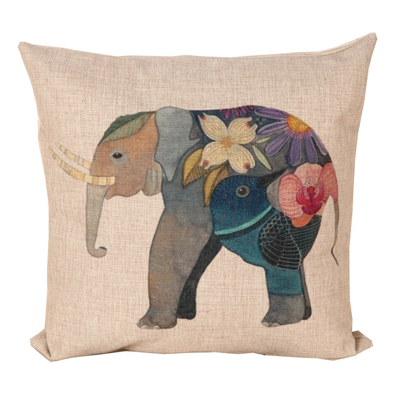 Elephant Linen Sofa Cushion Covers Seat Chair Bedding Pillow Case Home Decor 18*18in 30*50cm available(China (Mainland))