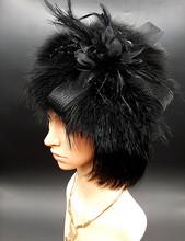 2016 New designl Women's Feather Fascinator Headband For Lady Wedding Bridal Party Prom flower hot sale headwear Heni038(China (Mainland))