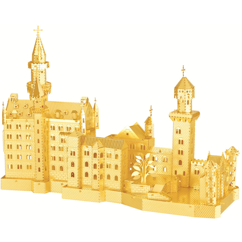 3D puzzles for adults 2016 New Swan Stone Castle Nano metal DIY 3D Puzzle Building brinquedos para as crian educational toys(China (Mainland))