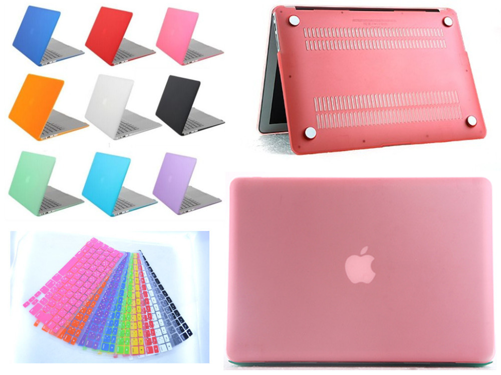 "Transparent Crystal Rubberized Hard Laptop Cover For Apple Macbook Pro Retina 15.4"" Notebook Case +Gift Keyboard Cover(China (Mainland))"