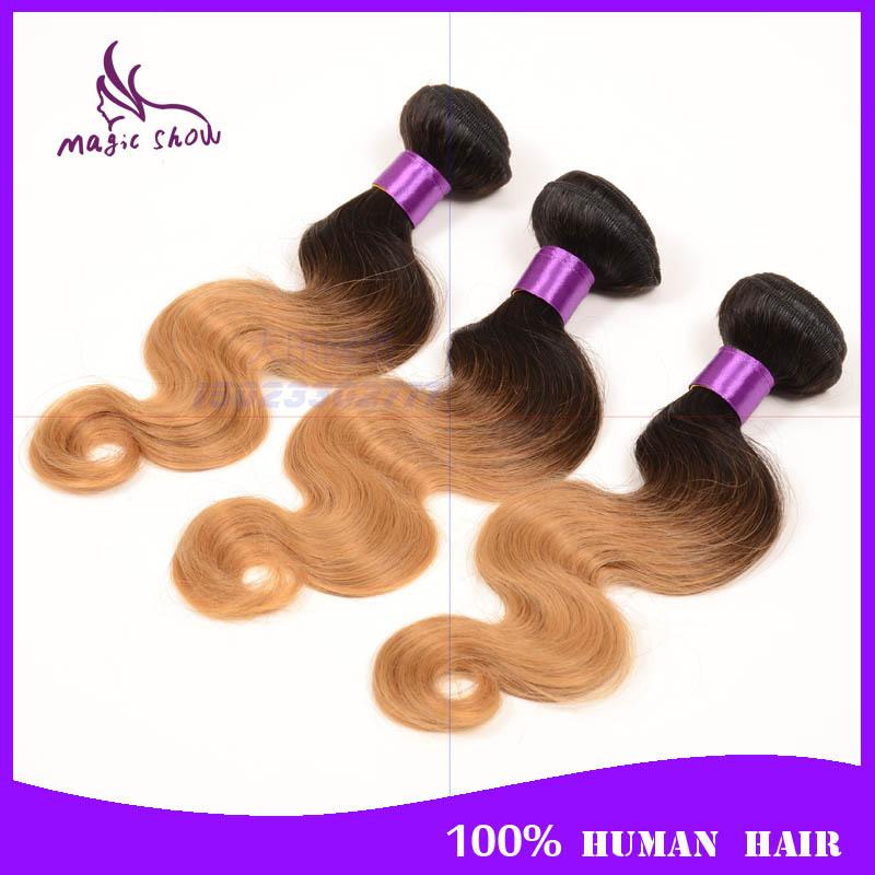 Malaysian body wave 4 bundles 6a Rosa hair products malaysian body wave ombre T1B/27 cheap Malaysian virgin hair bundle deals<br><br>Aliexpress