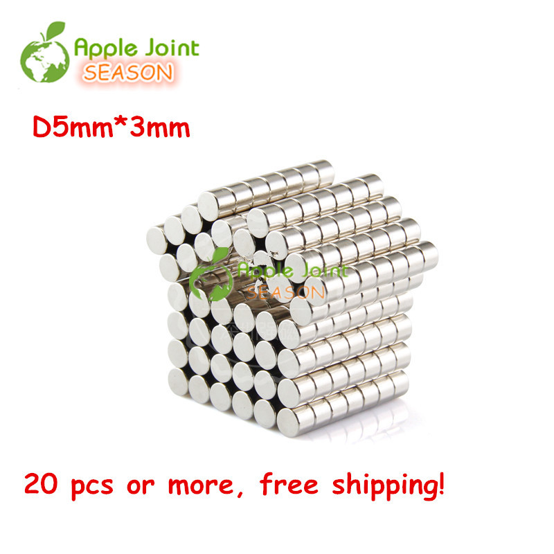 50Pcs D5*3 mm Strong Disc NdFeB Rare Earth Magnet Neodymium Magnets Craft / Small Round Cylinder Bulk Customized Free Shipping<br><br>Aliexpress