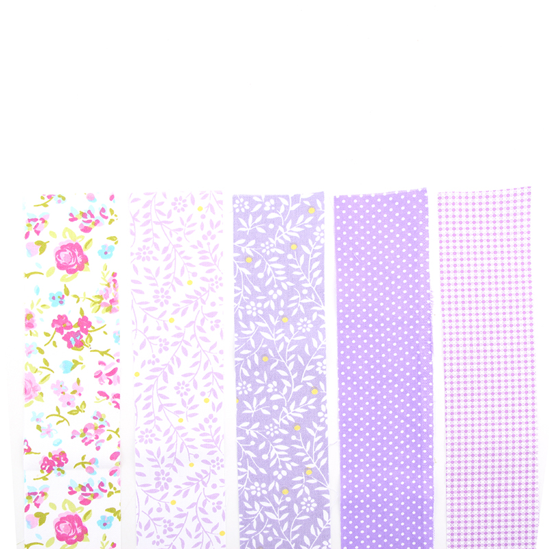 5 Designs Floral Patchwork Cotton Fabric Strips Needlework Textile Sewing Patchwork Fabric For Bag Hat Doll cloth JH1-7(Hong Kong)