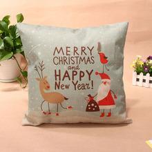 44*44cm Cartoon Printed Cotton Linen Pillow Case Cushion Cover Christmas Home Decorative Cushion Covers E#CH