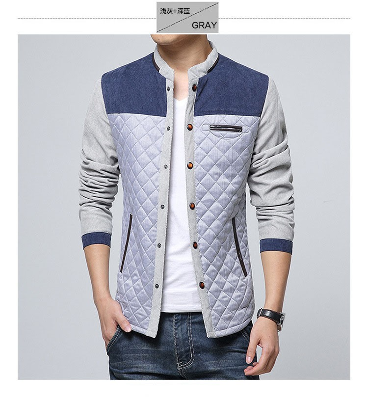 Corduroy Jackets Men Fashion Casual Stand Collar Jacket And Coat Patchwork Design 2016 Spring Autumn Slim Outwear Plus Size 3XL (23)