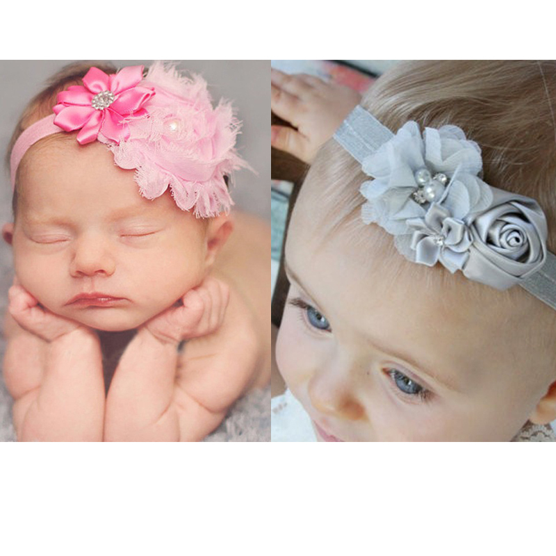1 Piece 2015 lace Flower elastic Headband infant Baby Kids Girls boy Hair Accessories Children toddler Head bands hairband(China (Mainland))