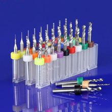 10 stück 3,175mm Hartmetall-bohrer Micro Gravur CNC PCB Schaftfräser Herstellung Loch Aluminium Holz Acryl Kunststoff 0,2mm zu 3,0mm(China (Mainland))