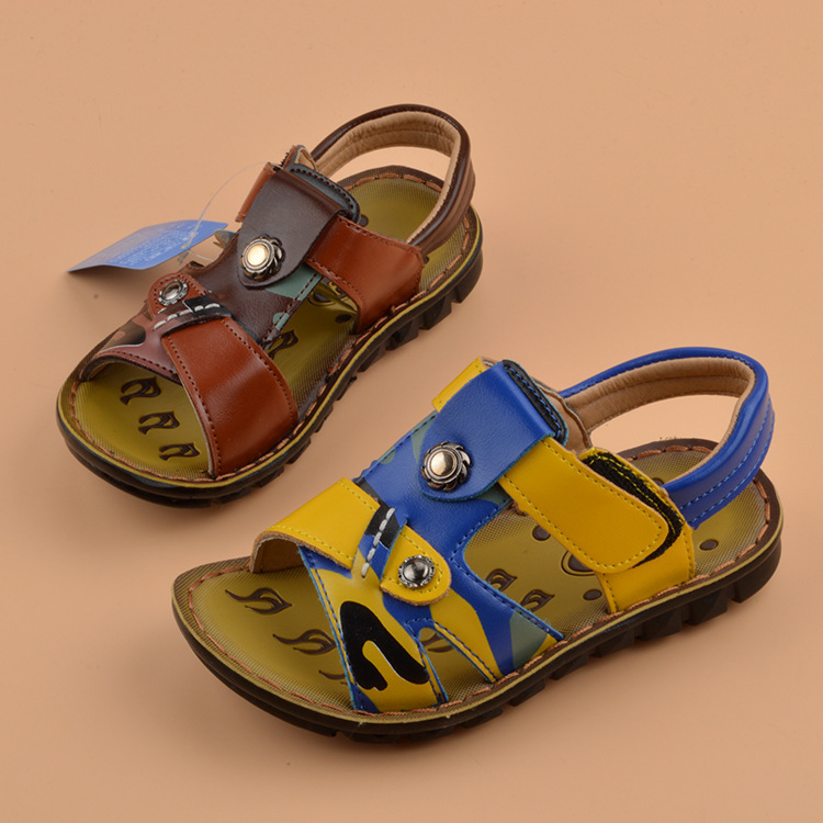 2015 shoes kids Sandals boys Sandals new style cowhide