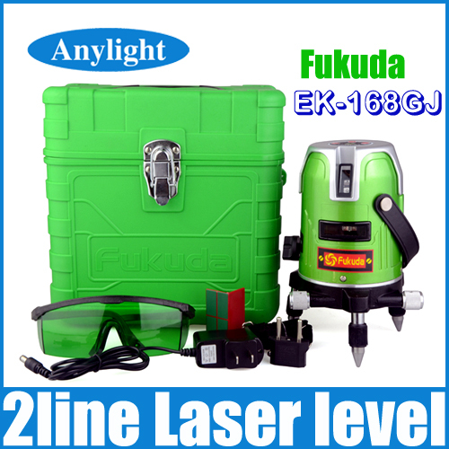 Fukuda green laser level 2 line 1 point 360 degree rotary laser line Ek-168G Horizontal and Vertical cross levels WAL18(China (Mainland))