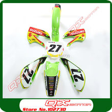 DIRT BIKE PIT BIKE PARTS KLX110 DRZ110 Plastic kit + 3m graphics Decals Sticker kit free shipping(China (Mainland))
