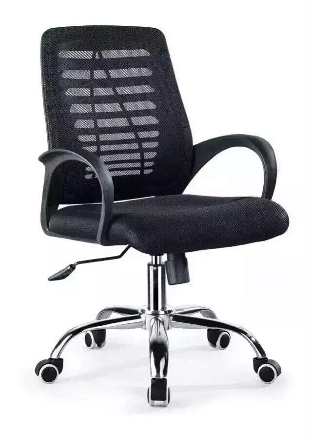(6pcs/lot)computer chair office chair with conference swivel chairs stainless steel wheel for good quality(China (Mainland))