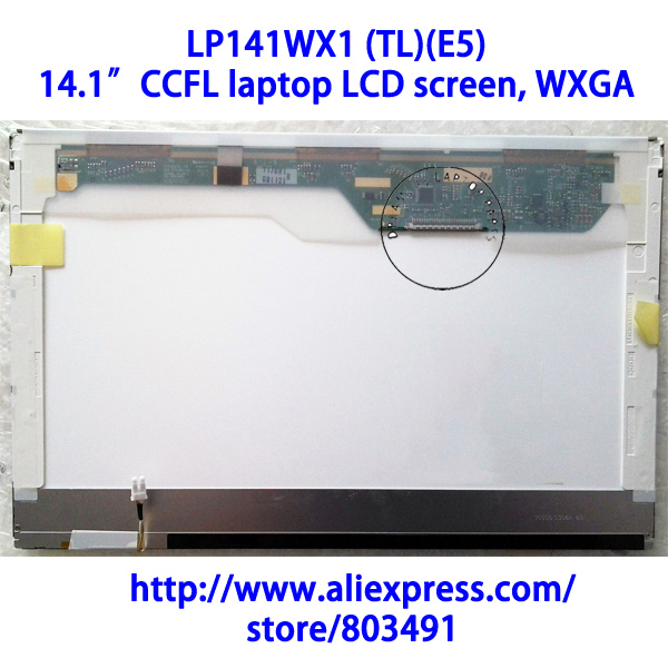 "LP141WX1 (TL)(E5) , 14.1"" laptop LCD screen, WXGA, CCFL backlight, LP141WX3-TLE5, Grade A+, 30 pins(China (Mainland))"
