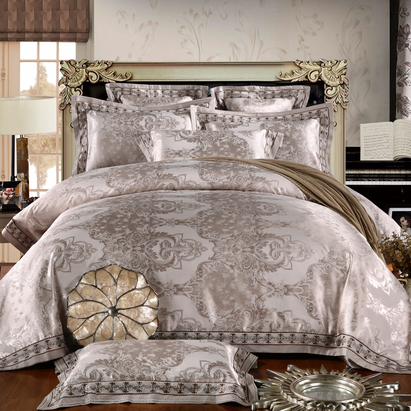 New arrival vintage pure cotton Jacquard bedding set bed linen bed sheets duvet cover pillow king queen size free shipping(China (Mainland))