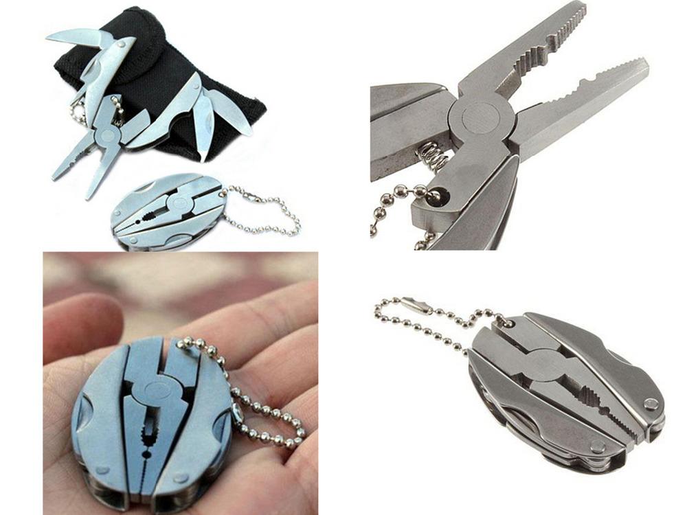 S613 2015 HOT SALE Foldaway Keychain Pocket Multi Function Tools Set Mini Pliers Knife Screwdriver high