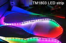 5mX High quality DC5V TM1803 RGB dream color LED strip 32LEDs/m 32pixels/m free shipping(China (Mainland))