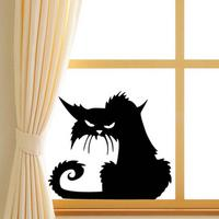 Hot style of foreign trade Halloween black cat glass stickers Personality festival decoration wall stickers