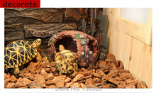 Reptile tortoise Snake Lizard hiding hole  Landscaping Reptile Cave fake cave for turtle spider similar to the tree hole NO.25(China (Mainland))