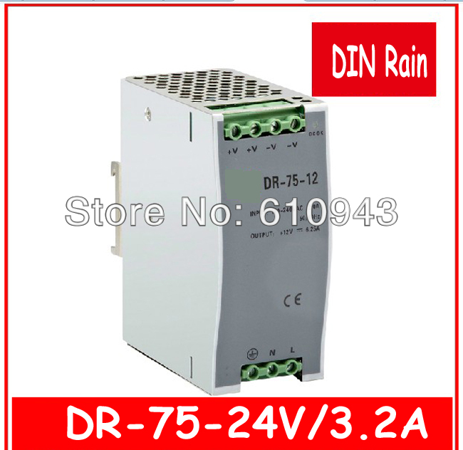 DR-75W-24v  Single Output Switching power supply for LED SMPS AC to DC<br><br>Aliexpress