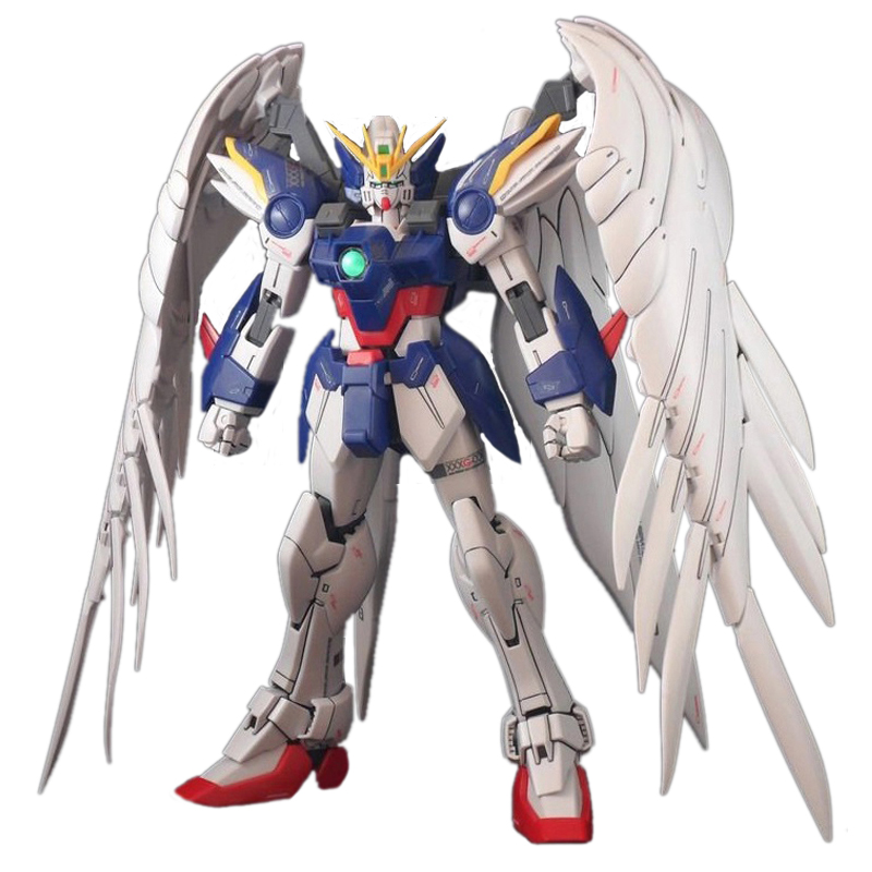Anime Mobile Suit toys MG 1/100 GAOGAO Wing Gundam Zero Fighter Assembled Soldiers Robot With Orignal Box Action Figure juguetes()