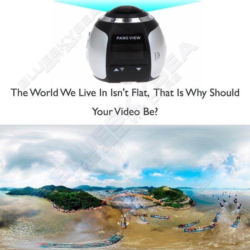 ถูก จัดส่งฟรี! 4พัน360องศาWifiกล้องพาโนรามาอัลตร้าHD 2448*2448กีฬาActionขับรถVRกล้อง