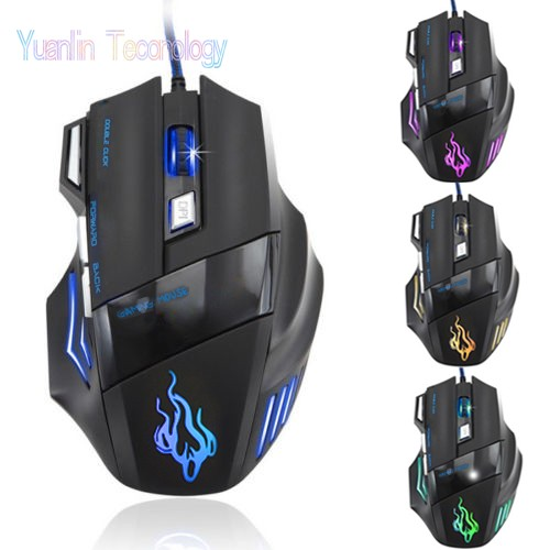 Гаджет  new 100% original High quality large wired gaming mouse Mice 7D OPTICAL computer mouse 3200 DPI for dota 2 CF CS gamer 10 None Компьютер & сеть