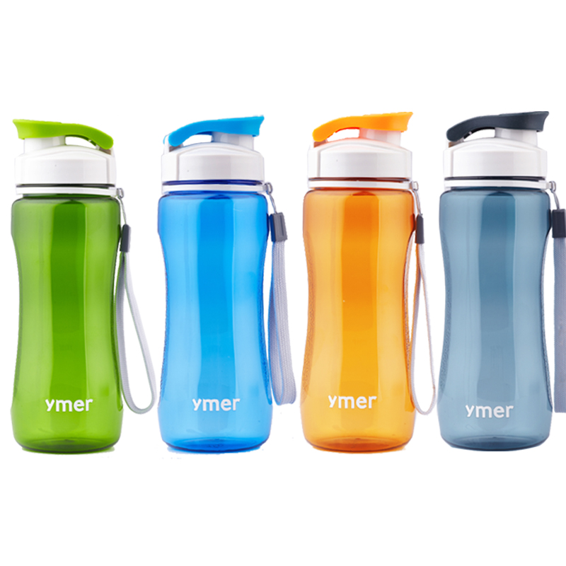 2016 New plastic water bottle leak-proof simple design (560ml) fashion brief portable for sports travel space cup(China (Mainland))